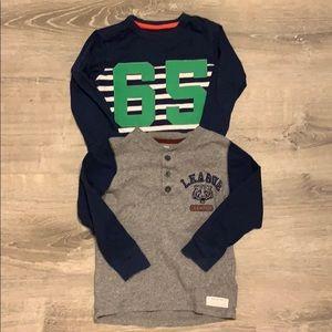 EUC boys Carter's (2) size 4 shirts.